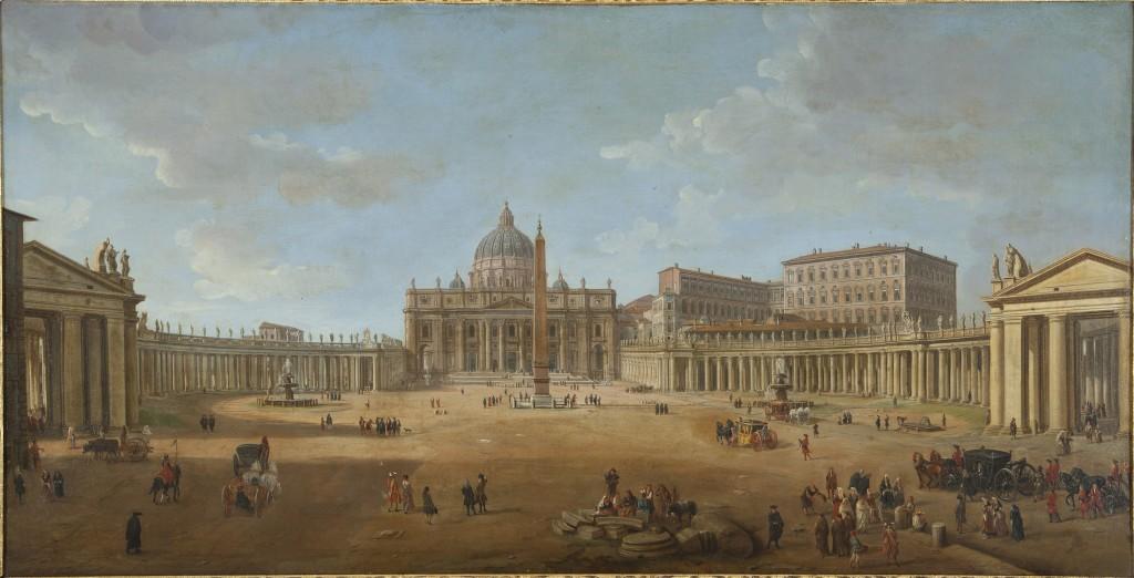 Гаспар ван Виттель - Базилика и площадь Святого Петра-Pano.jpg