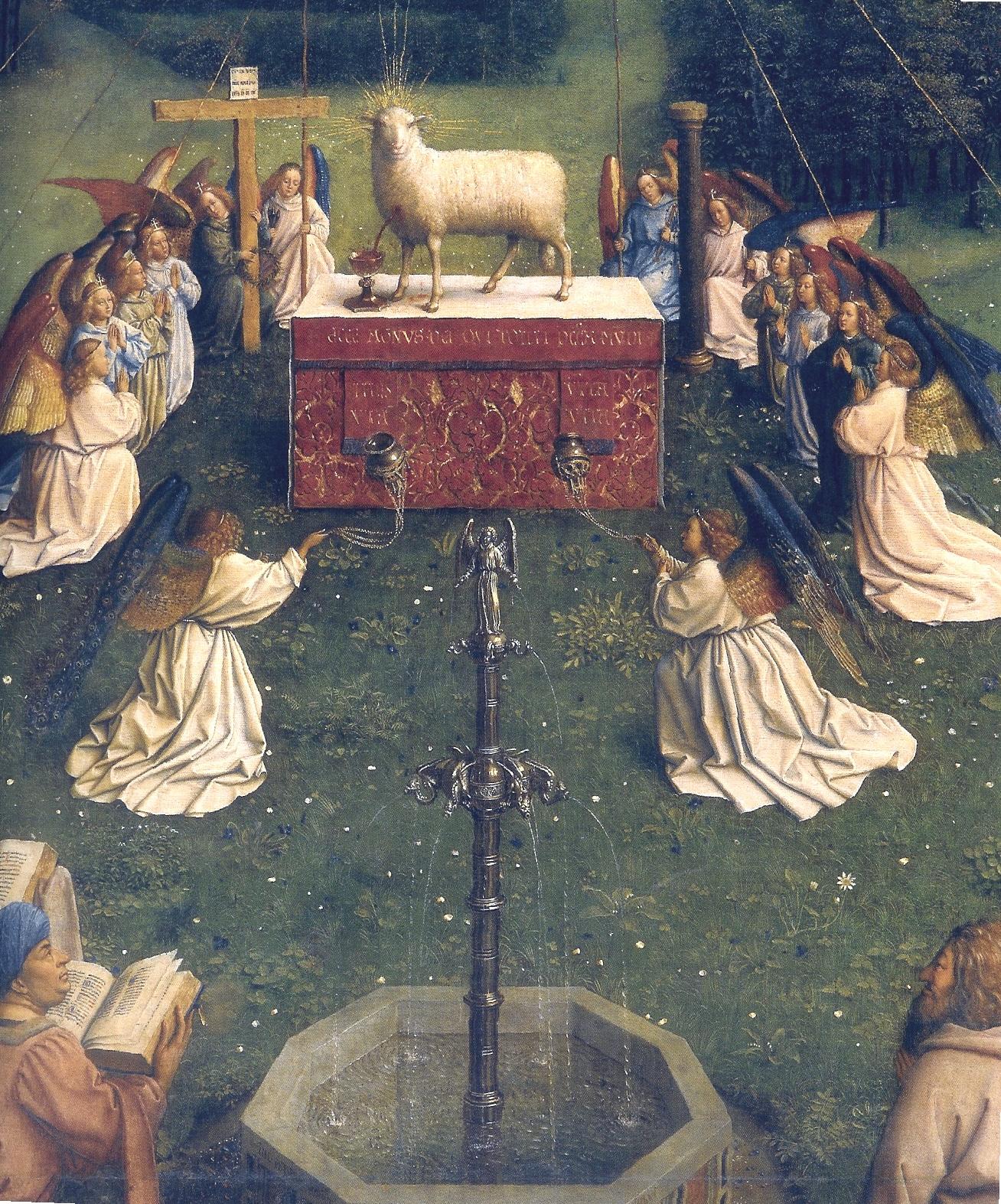 Ghent Altarpiece Lamb File:Ghent Altarpiece ...