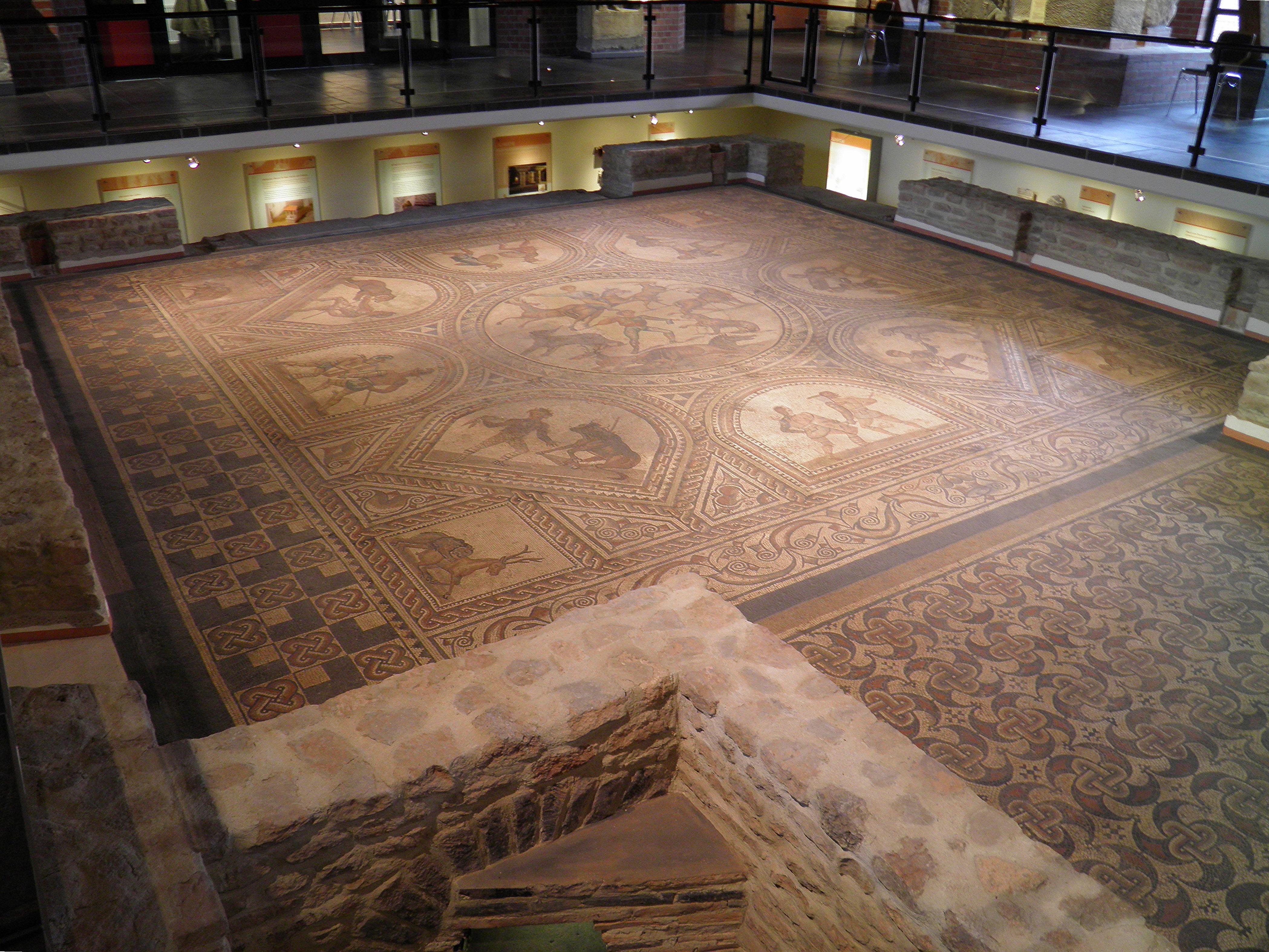 Filegladiator Mosaic Floor And The Hypocaust Underneath 3rd