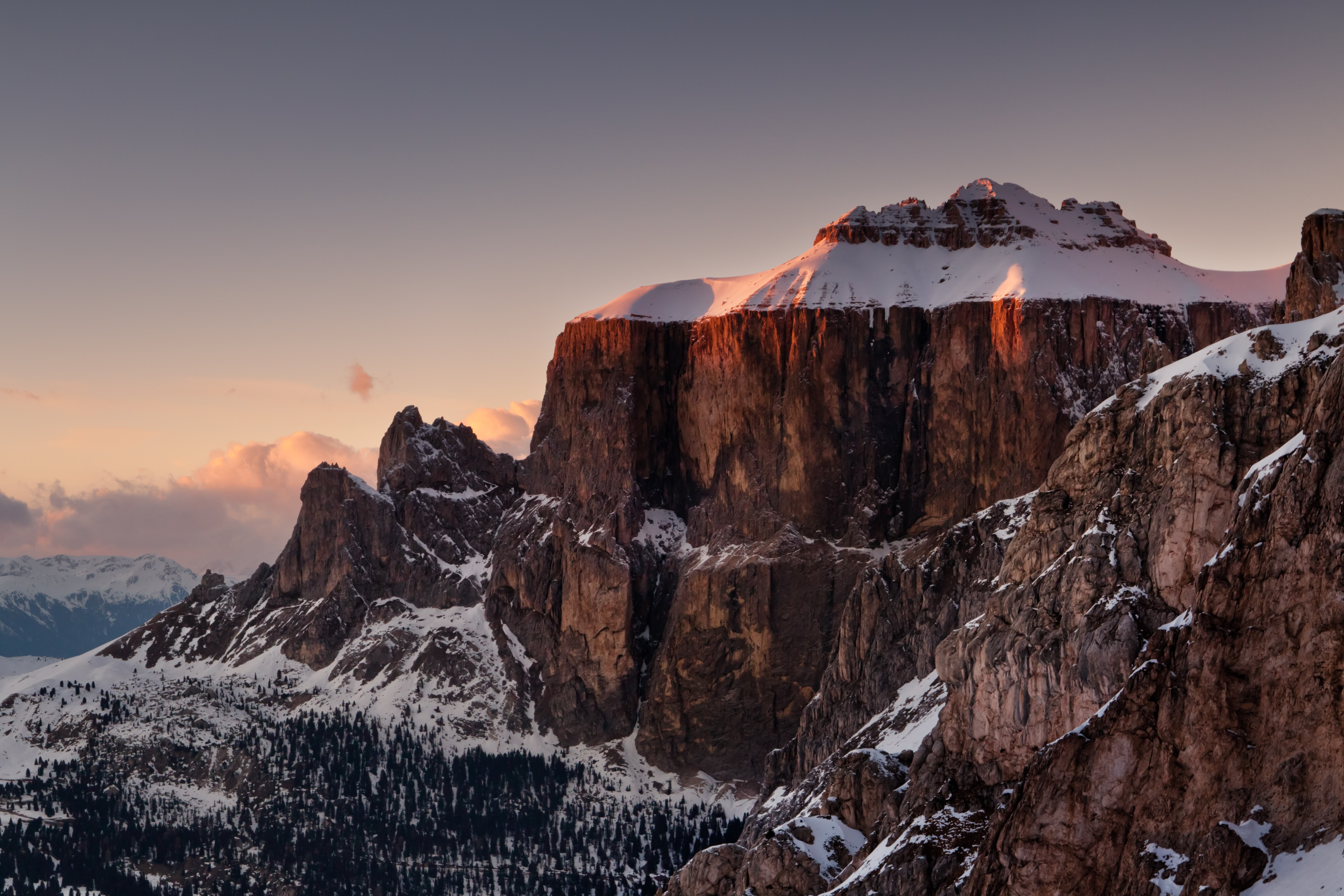 Italian dolomites ski and snowboard safari travel the for Best view of dolomites