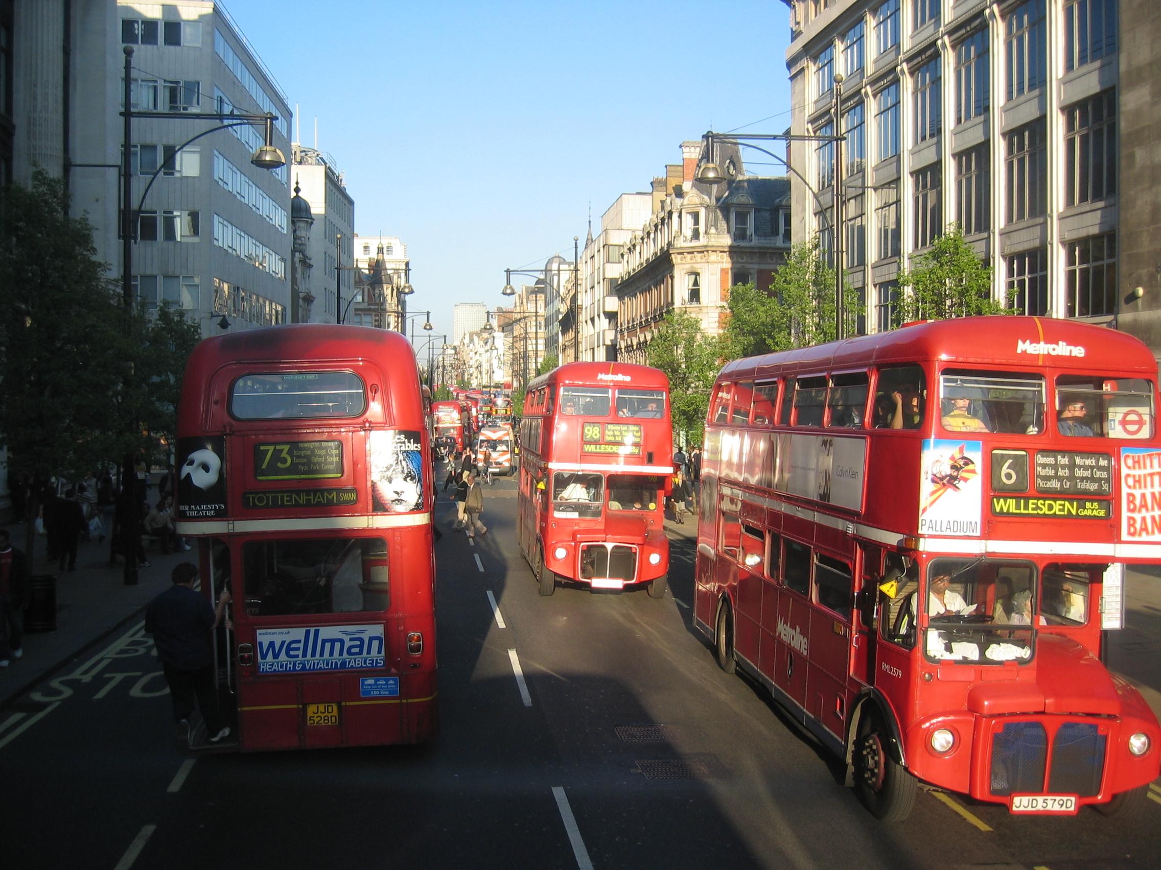 Fileheavy Bus Traffic On Oxford Street Jpg