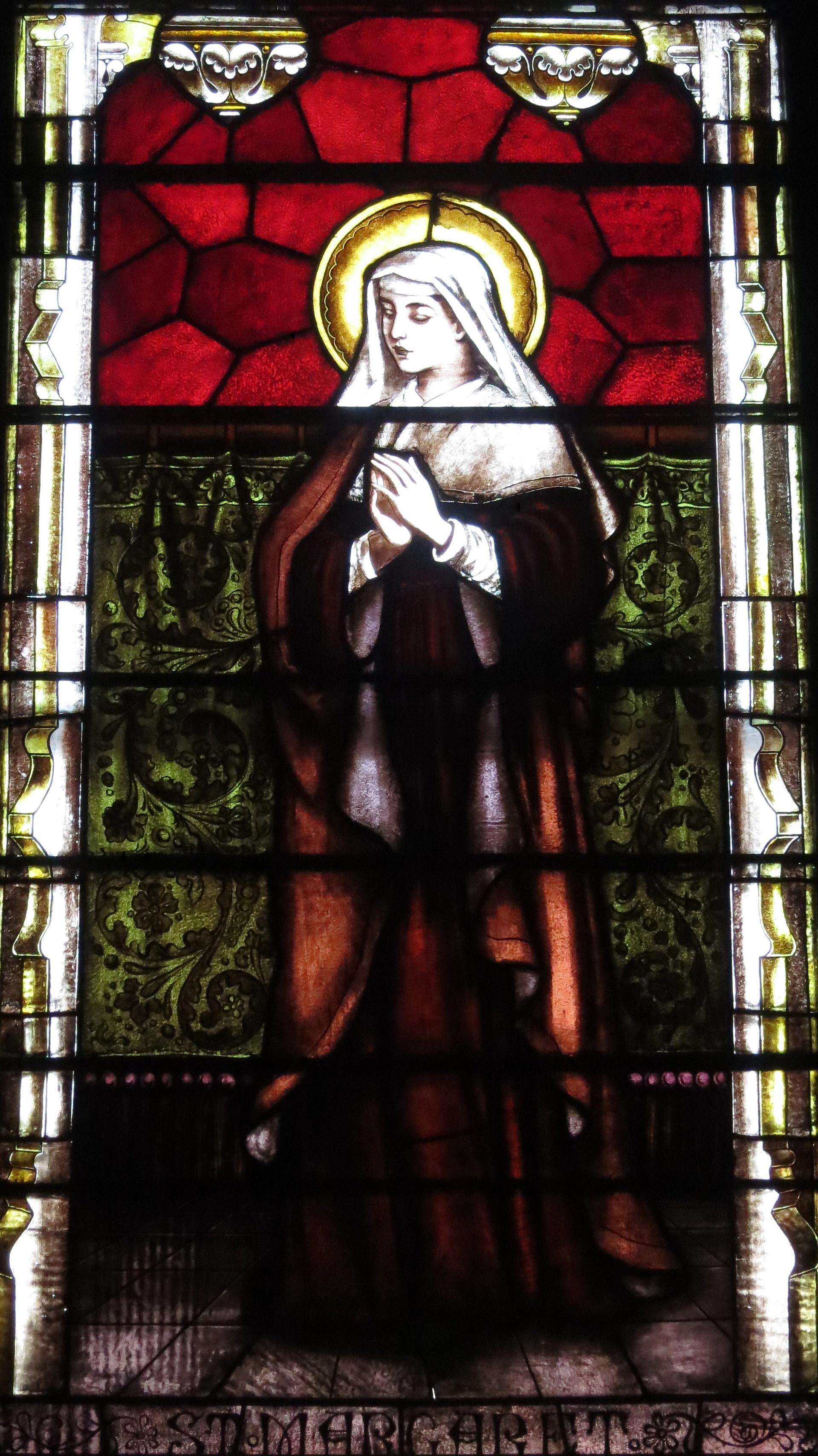 Glassmaleri av Margareta i den katolske kirken Immaculate Conception i Knoxville i Tennessee