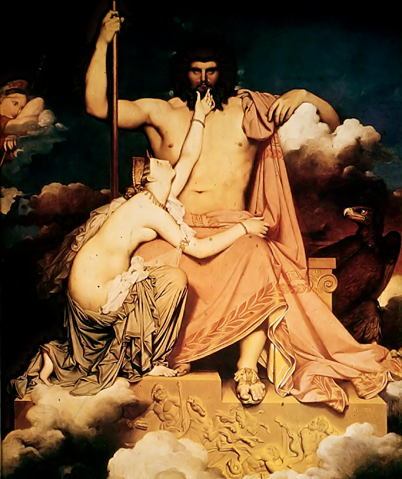 Jupiter and Thetis by Ingres