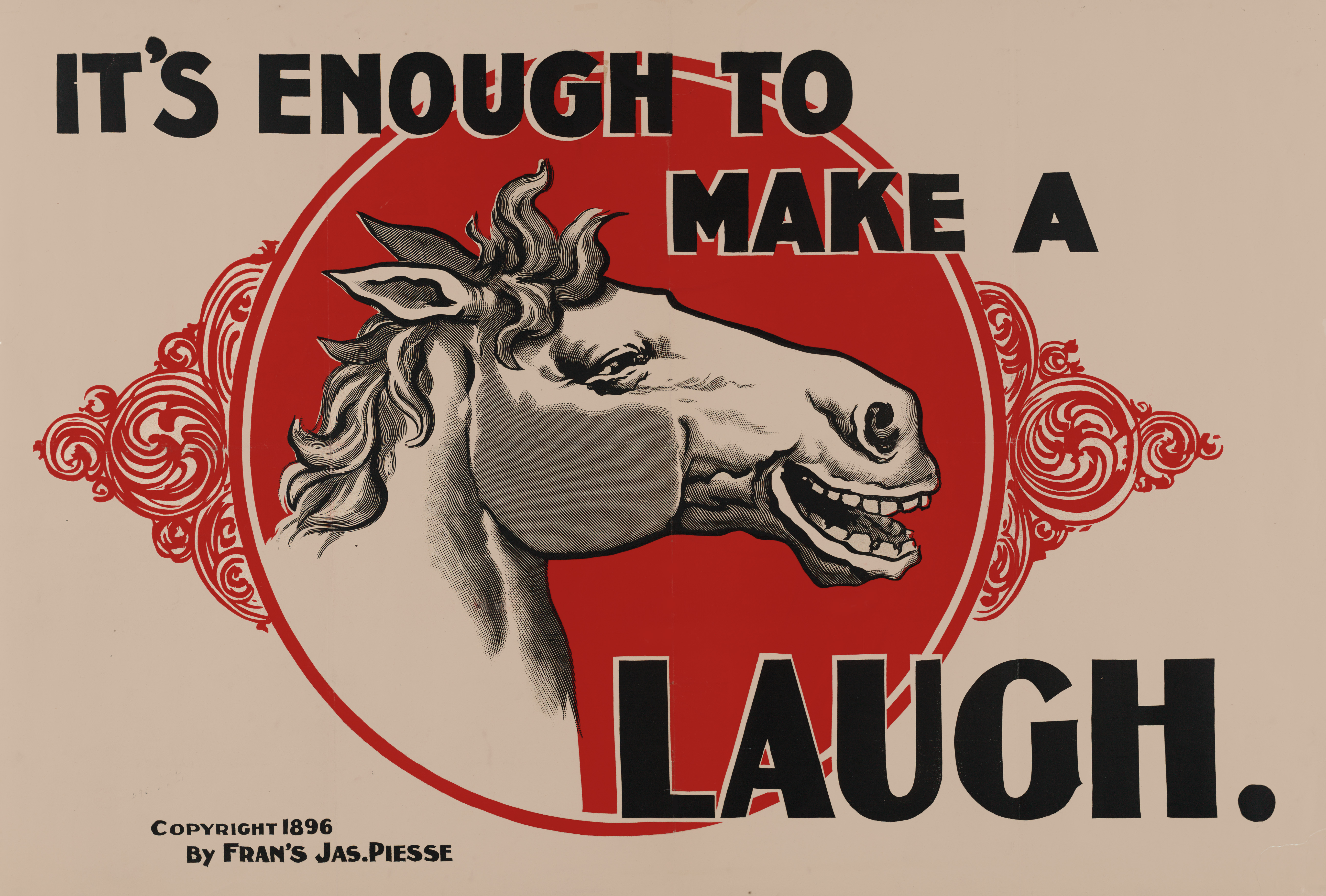 http://upload.wikimedia.org/wikipedia/commons/1/14/It%27s_enough_to_make_a_horse_laugh%2C_1896.jpg