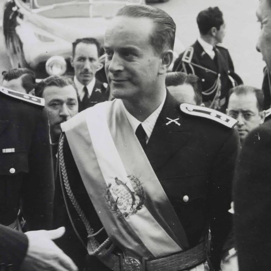El coronel Arbenz durante su presidencia. Imagen tomada de Wikimedia Commons.