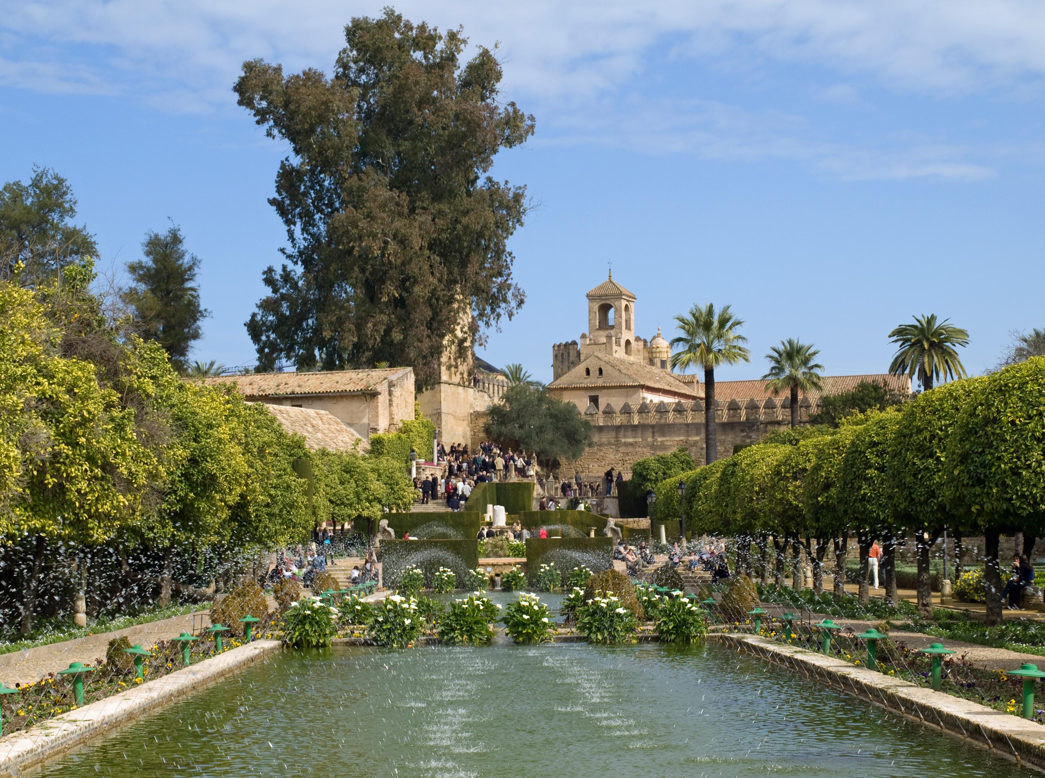 File jardines del alc zar c wikimedia commons for Jardines cordoba