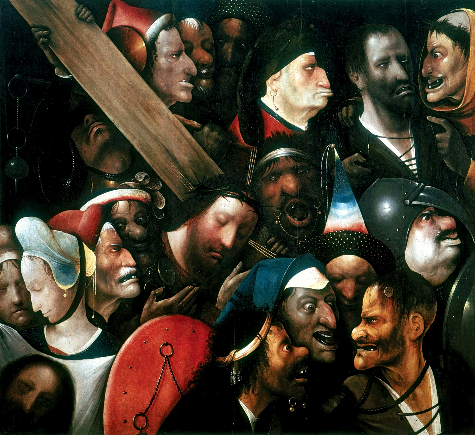 Jesus Carrying The Cross Painting File:Jheronimus Bosch ...