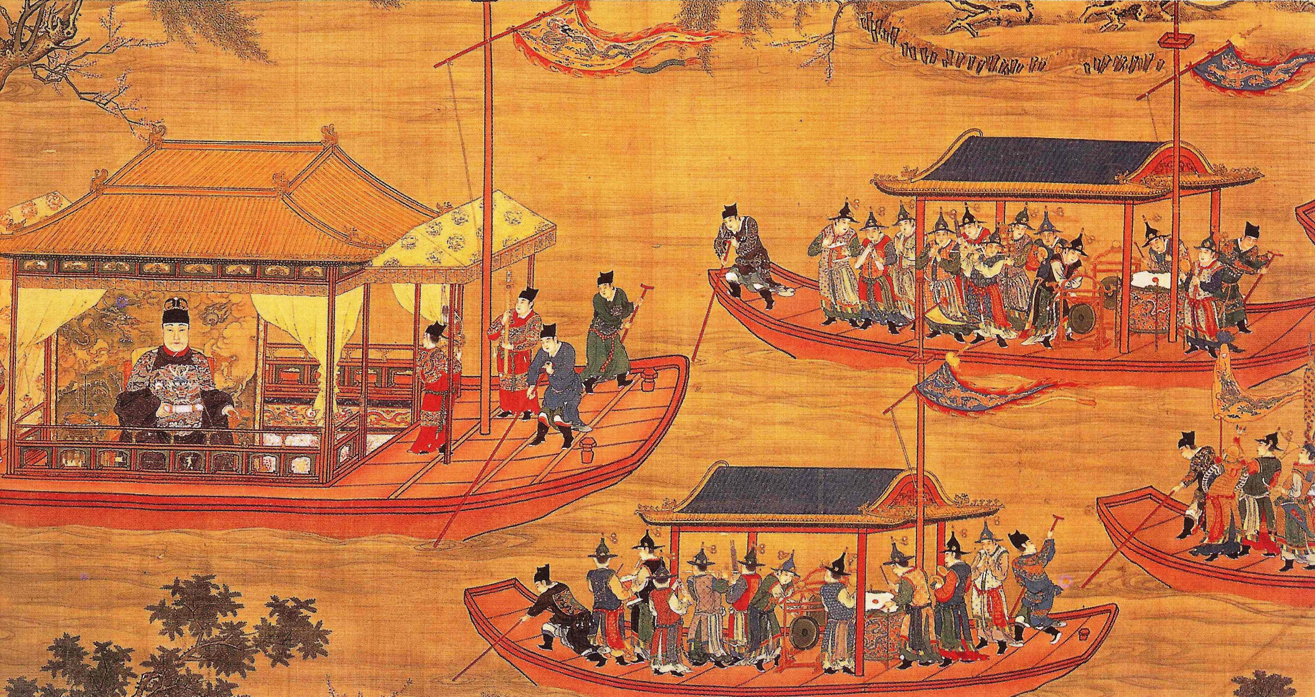 Jiajing Emperor on his state barge.jpg
