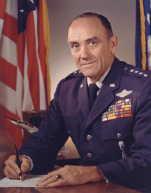 General John D. Ryan during his tenured as Commanders-in-Chief of the Strategic Air Command.