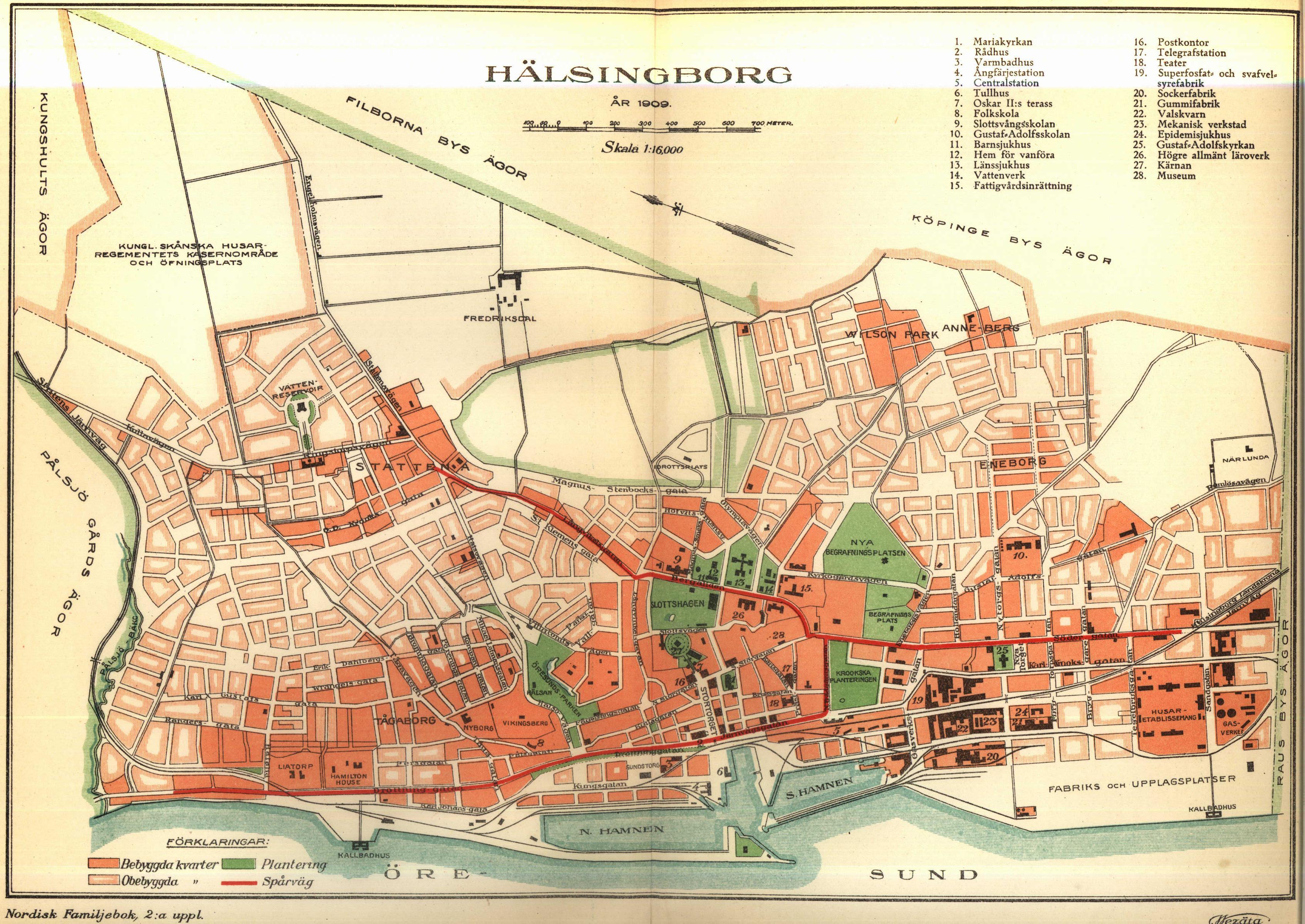 karta helsingborg