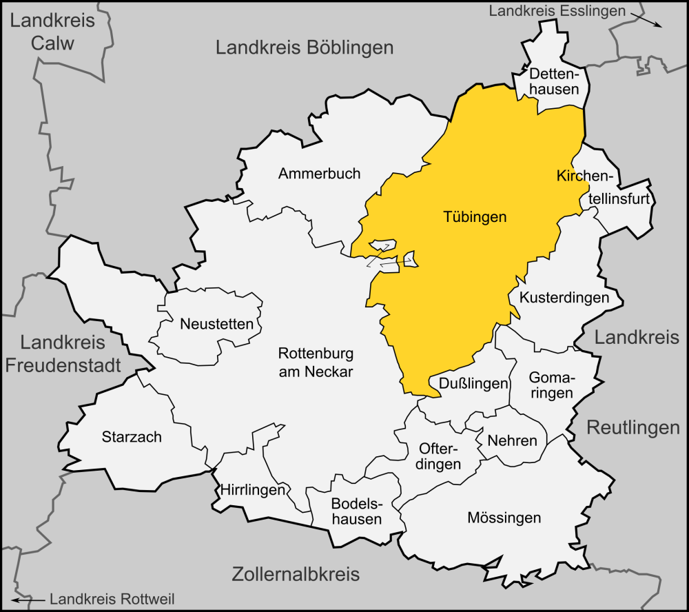Tubingen Germany  city photo : Karte Tübingen Wikimedia Commons