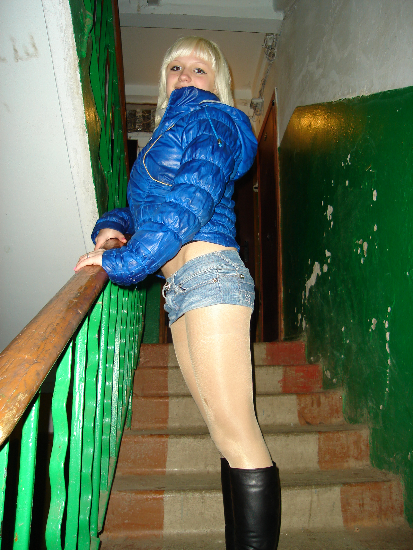Denim micro mini skirt