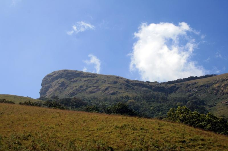 Image from Wikipedia explaining the name of the peak, kudremukh