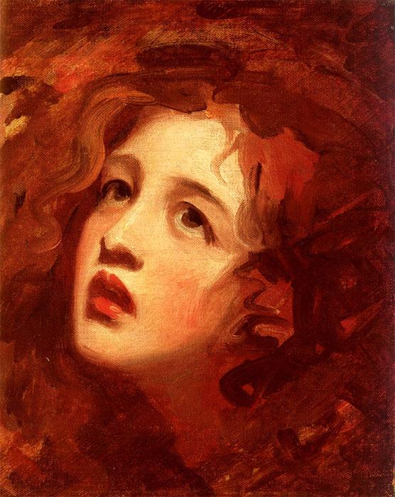 description lady emma hamilton as miranda portrait by george romney
