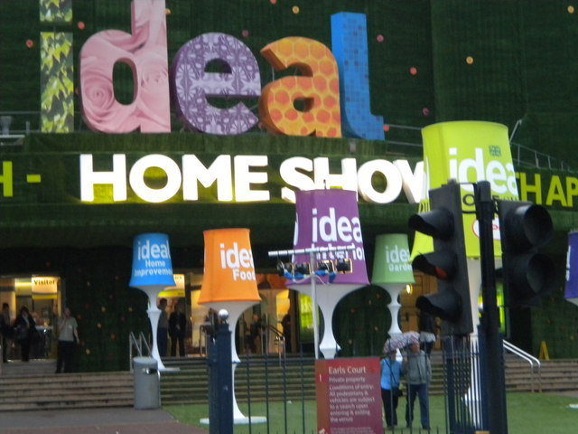 file lampshades outside the ideal home show earl s court exhibition