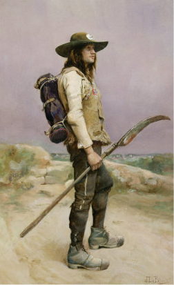 Vendean rebel. Painting by Julien Le Blant