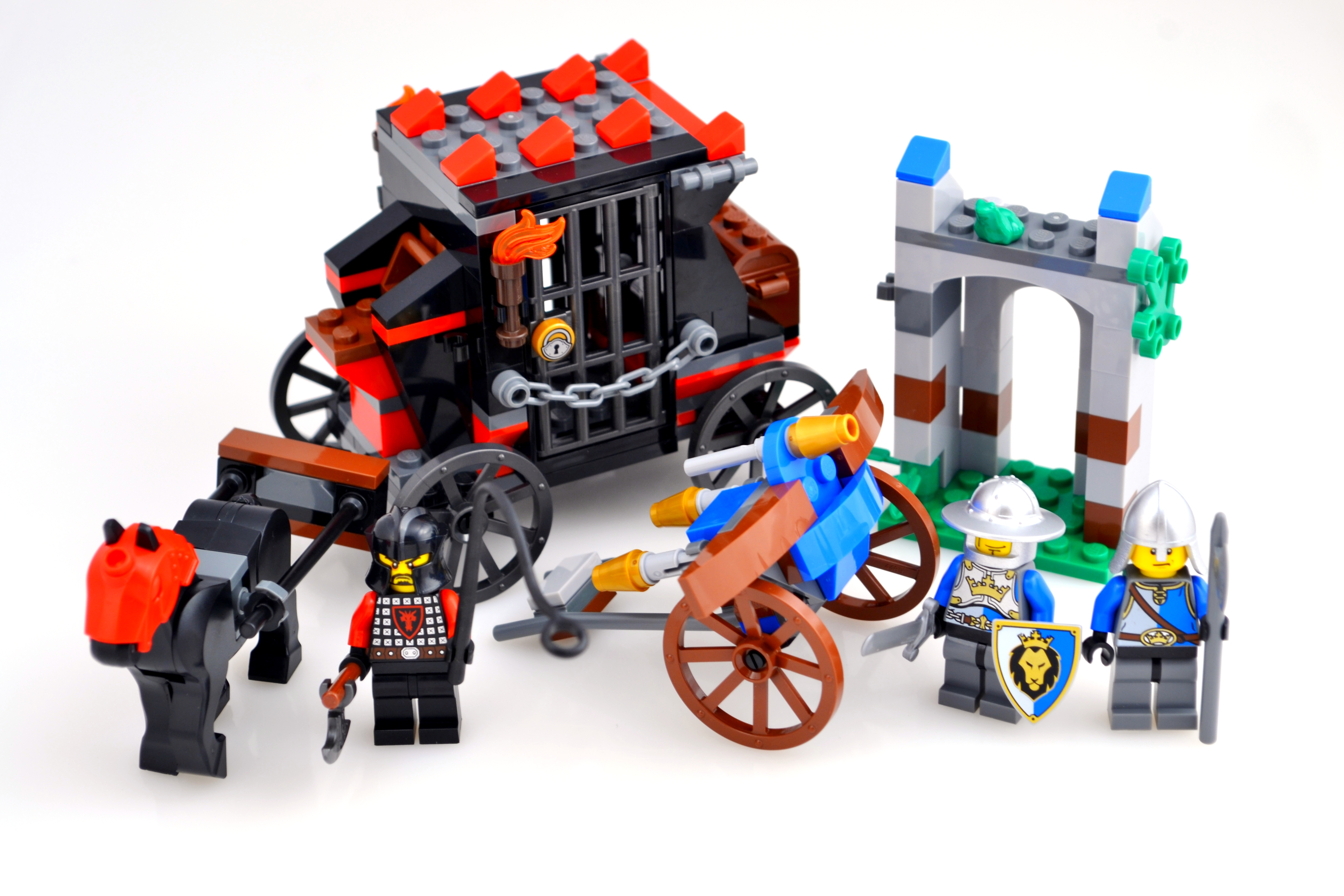 NEW MEDIEVAL LEGO PEASANT w//CART castle market village red riding hood minifig