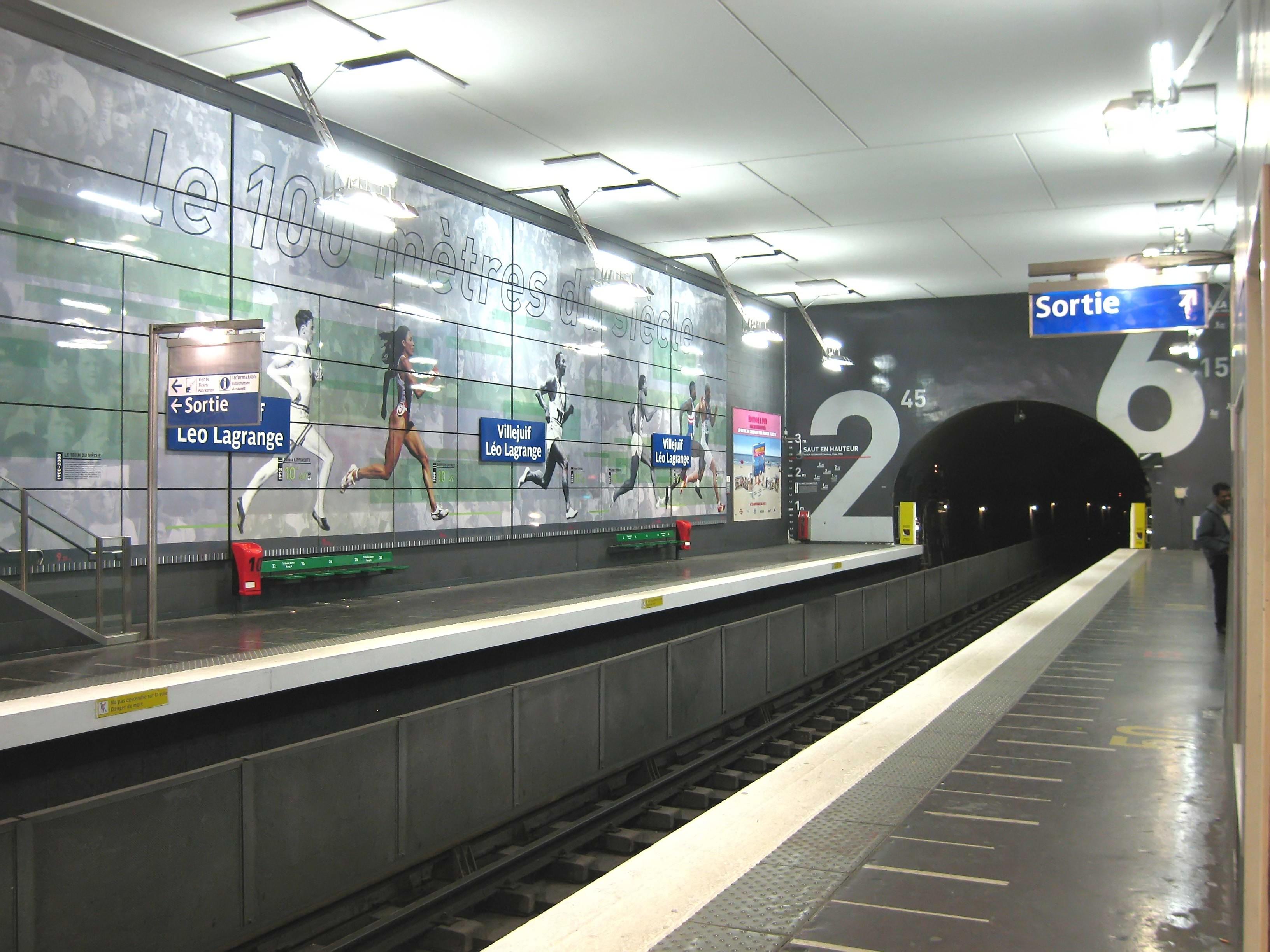 Métro Villejuif Léo Lagrange ligne 7
