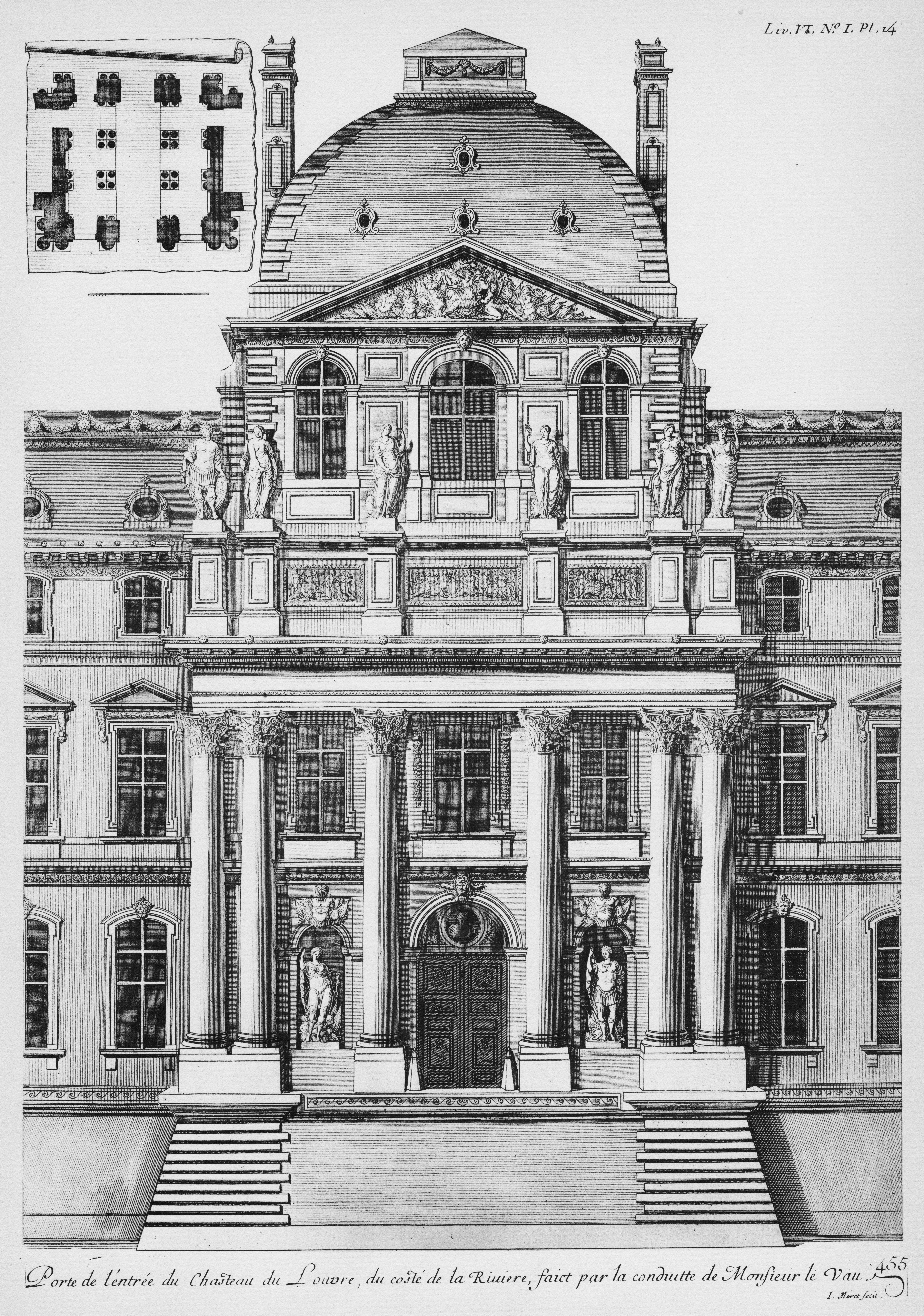 File:Louvre   Avant Corps De Lu0027ancienne Façade Du Côté De La