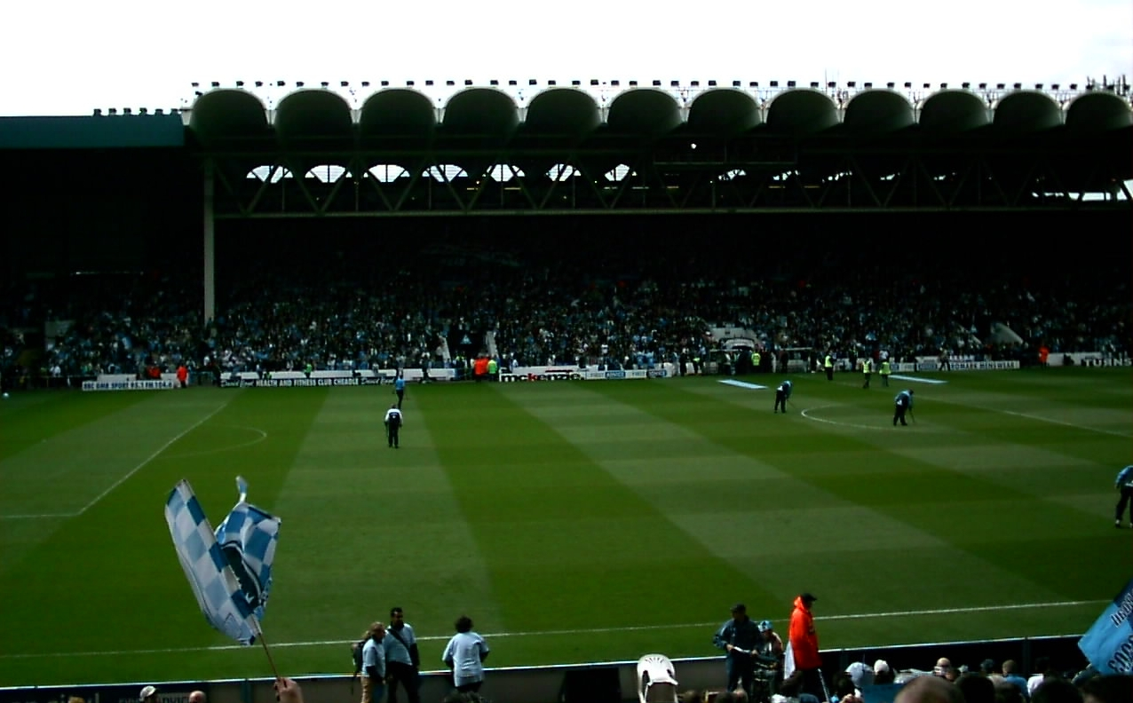 View looking towards main stand at Maine Road during final match