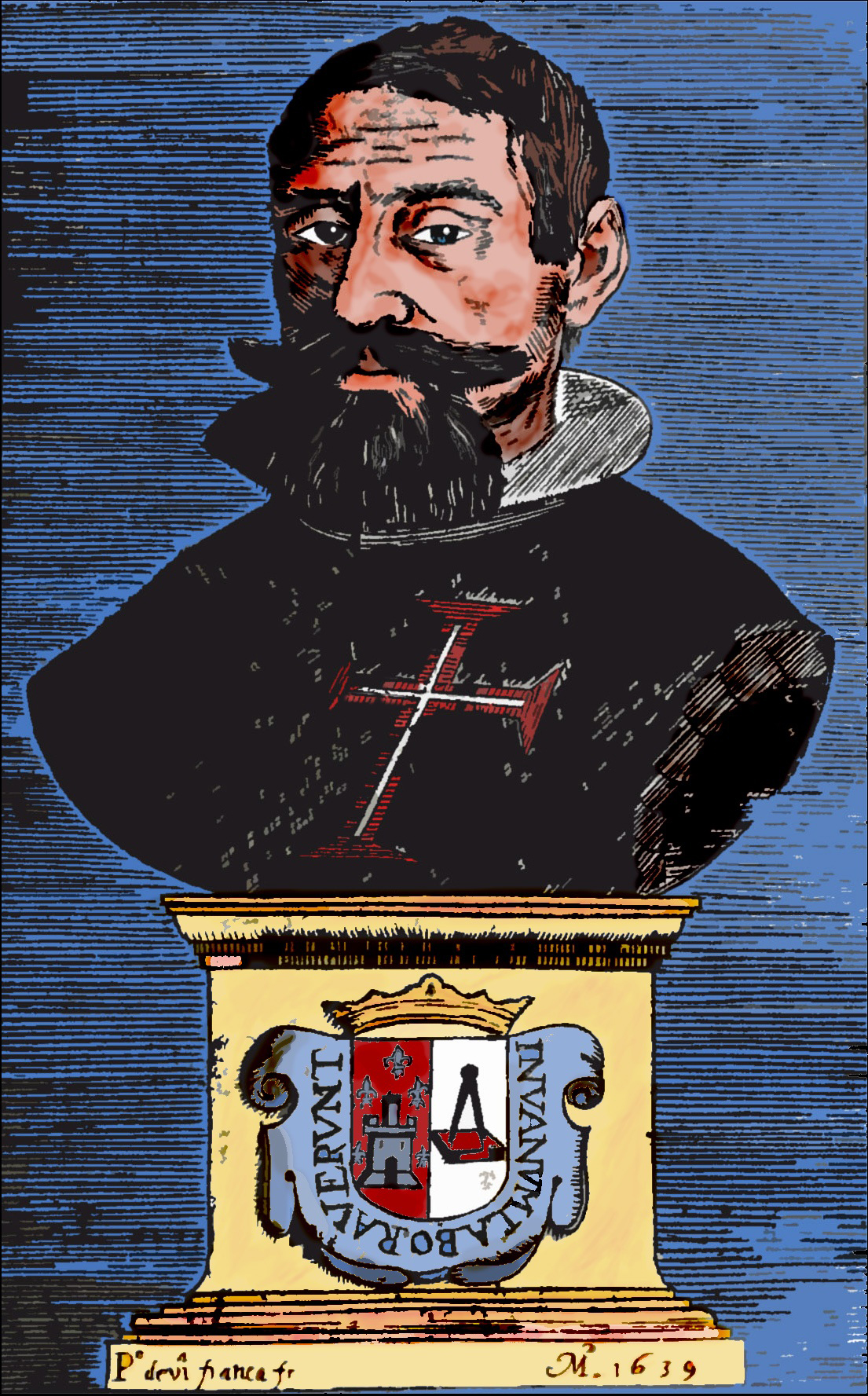Portrait of '''Manuel de Faria e Sousa''' ''in Ásia portuguesa''