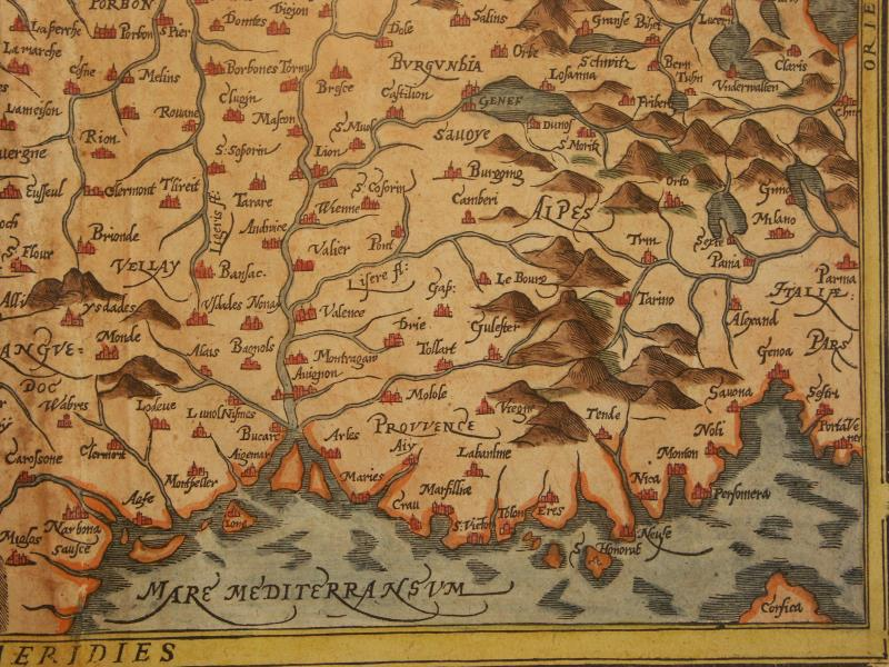Map Of France 1600.File Map Of France South East 1600 Jpg Wikimedia Commons