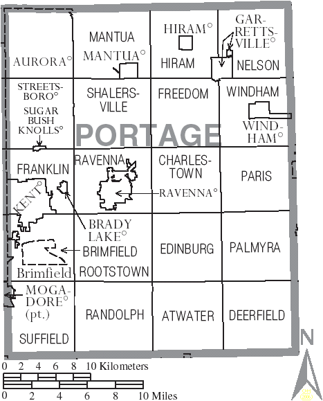 File:Map of Portage County Ohio With Municipal and Township Labels