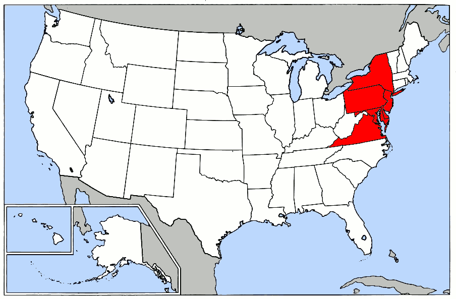 Mid Atlantic States Map.File Map Of Usa Highlighting Mid Atlantic States Png Wikimedia Commons