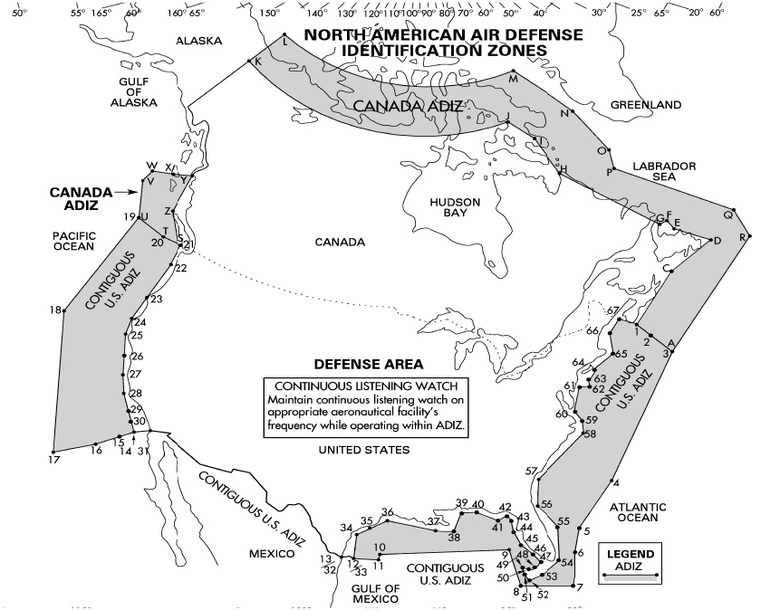 Air Traffic Control California Map.Air Defense Identification Zone North America Wikipedia