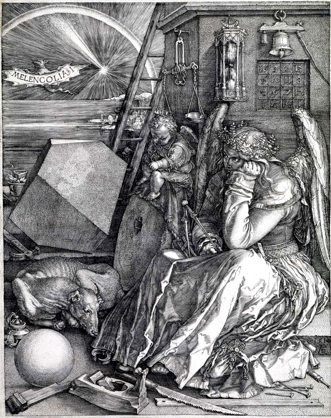 Claw hammer in Durer painting. DIY 500 years ago