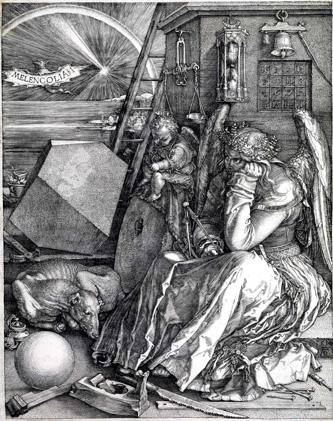 """Albrecht Dürer, """"Melancolia I"""""""