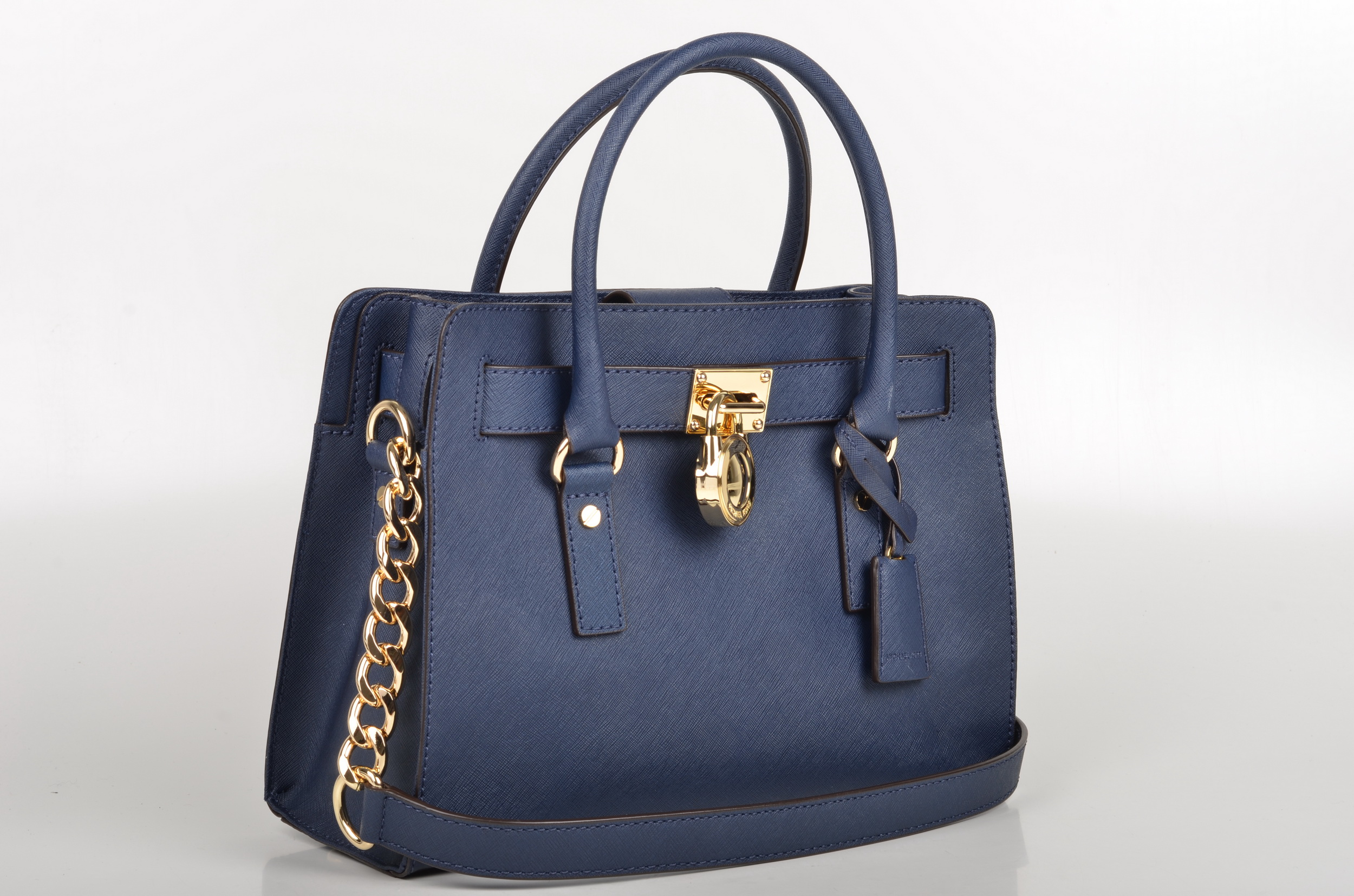 file michael kors hamilton ew satchel handtasche 30s2ghms3l kalbsleder navy blau 2. Black Bedroom Furniture Sets. Home Design Ideas
