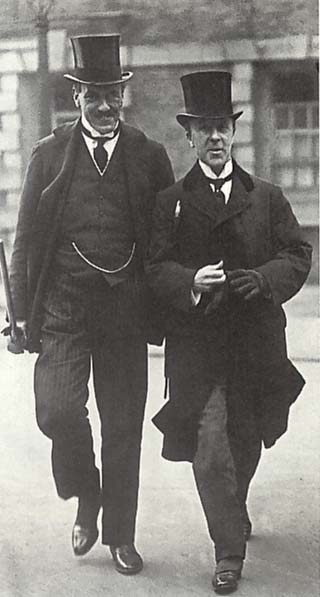Edwin Montagu, left, the Secretary of State for India, whose report, led to the Government of India Act 1919, also known as the Montford Reforms or the Montagu-Chelmsford Reforms Montagu left.jpg