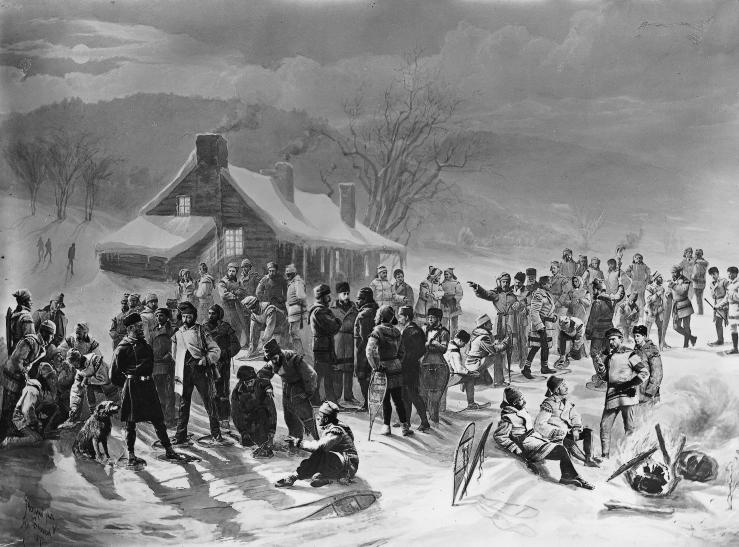 Montreal Snow Shoe Club, 1872
