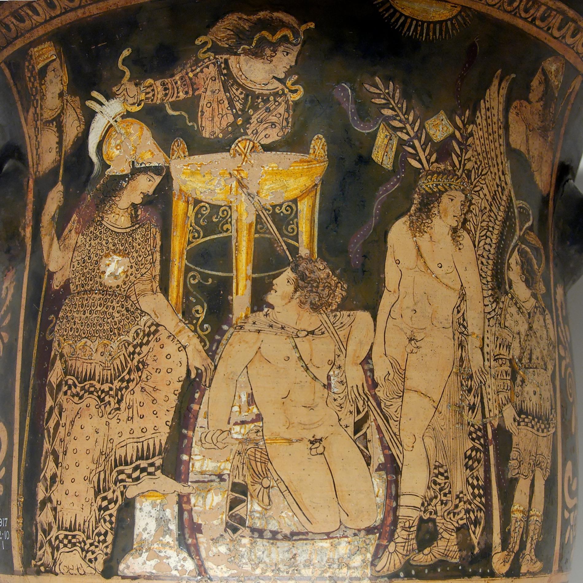 Caballero Sapuri, Juez del Infiero- Minos de Grifo (ss) Orestes_Delphi_BM_GR1917.12-10.1