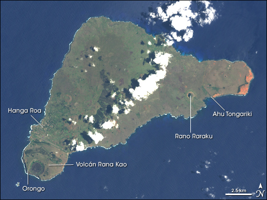 Foto Satelite de isla de Pascua