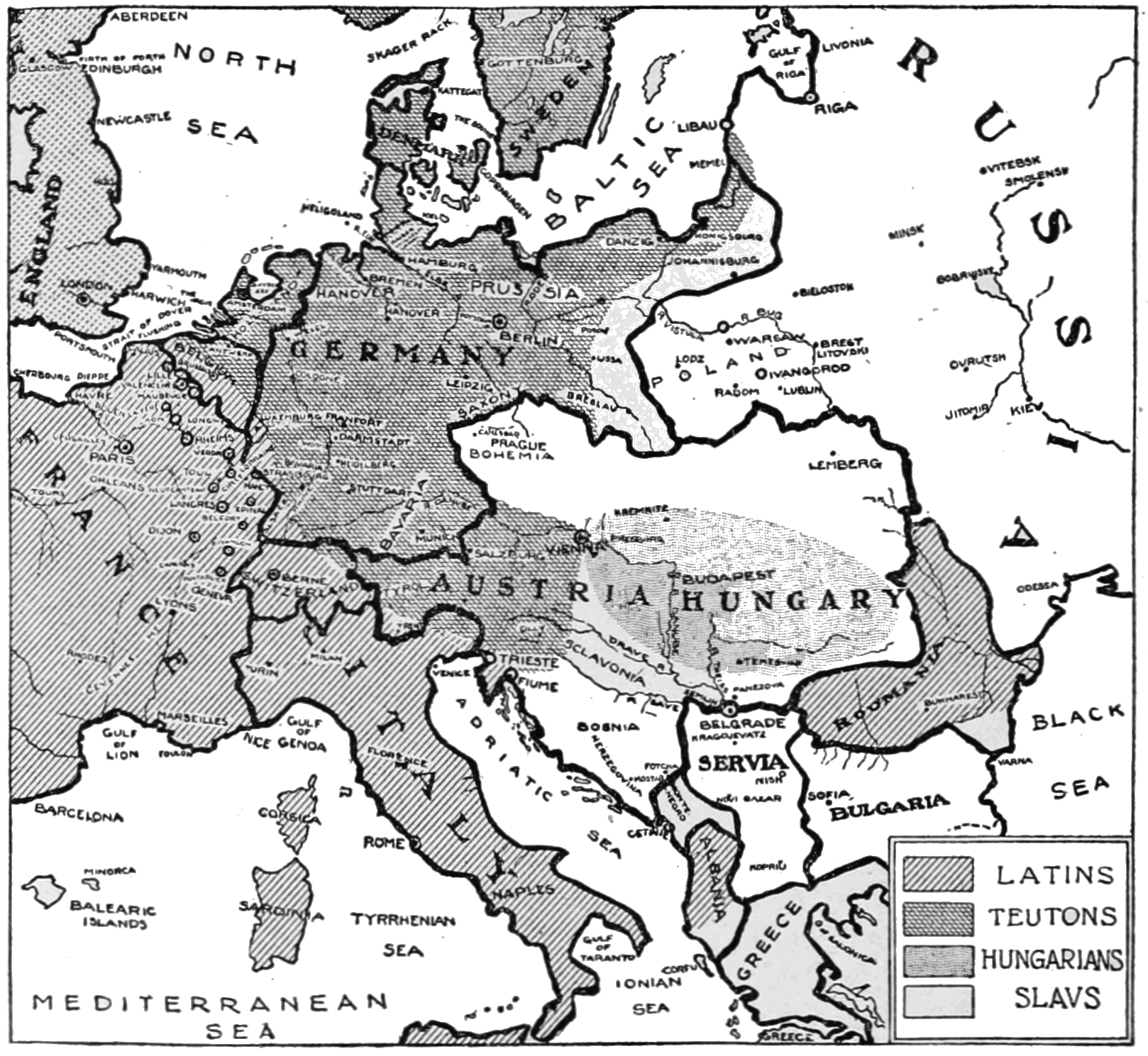 PSM V85 D314 Boundaries of central europe and the distribution of races.png