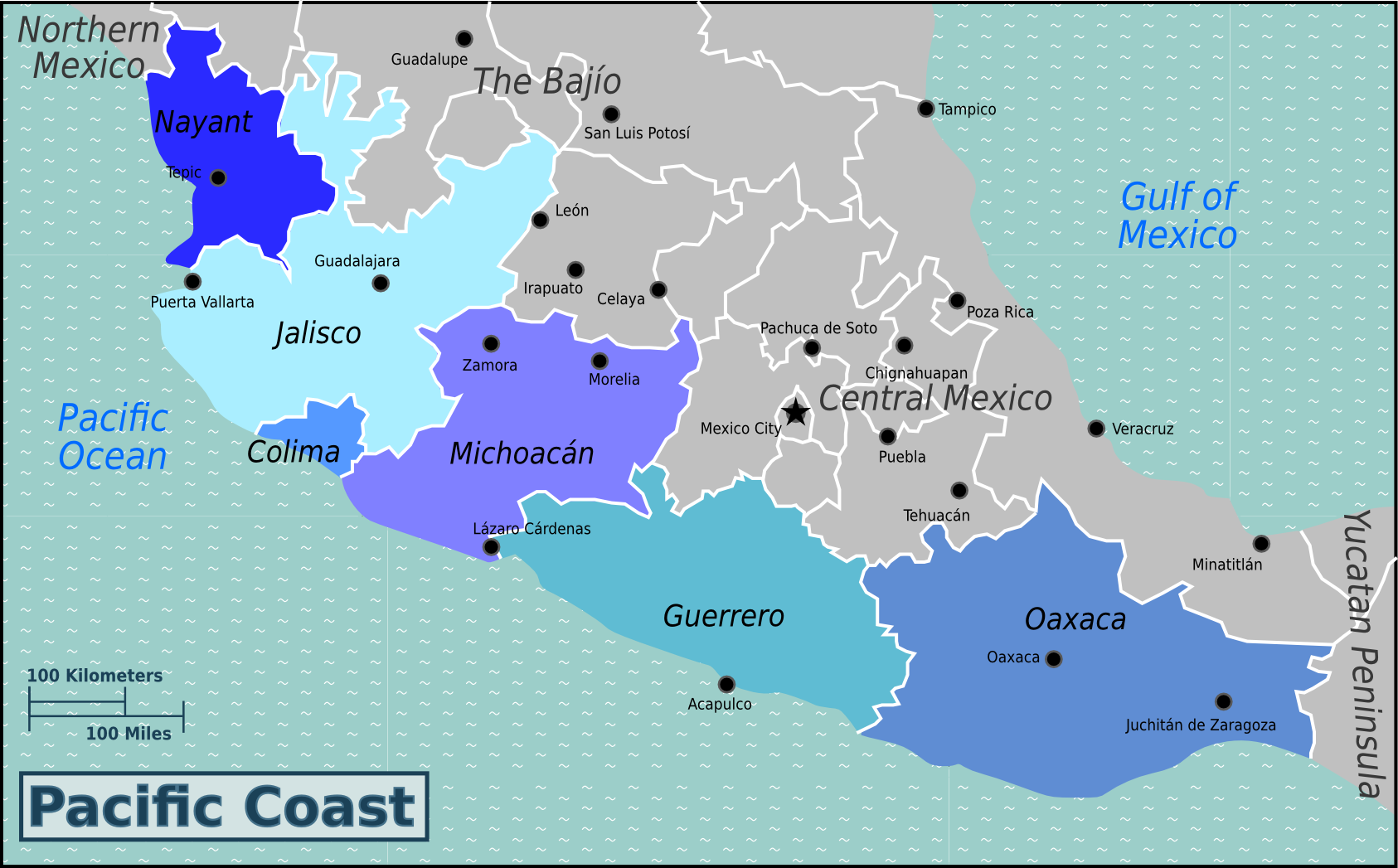 mexico pacific coast map File Pacific Coast Mexico Wv Map Png Png Wikimedia Commons mexico pacific coast map