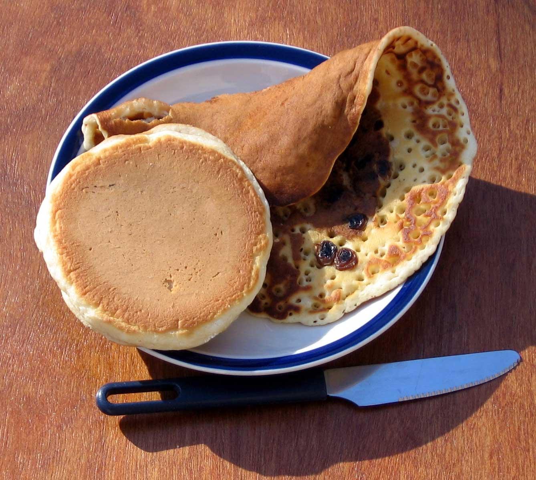 Pancake and crumpet