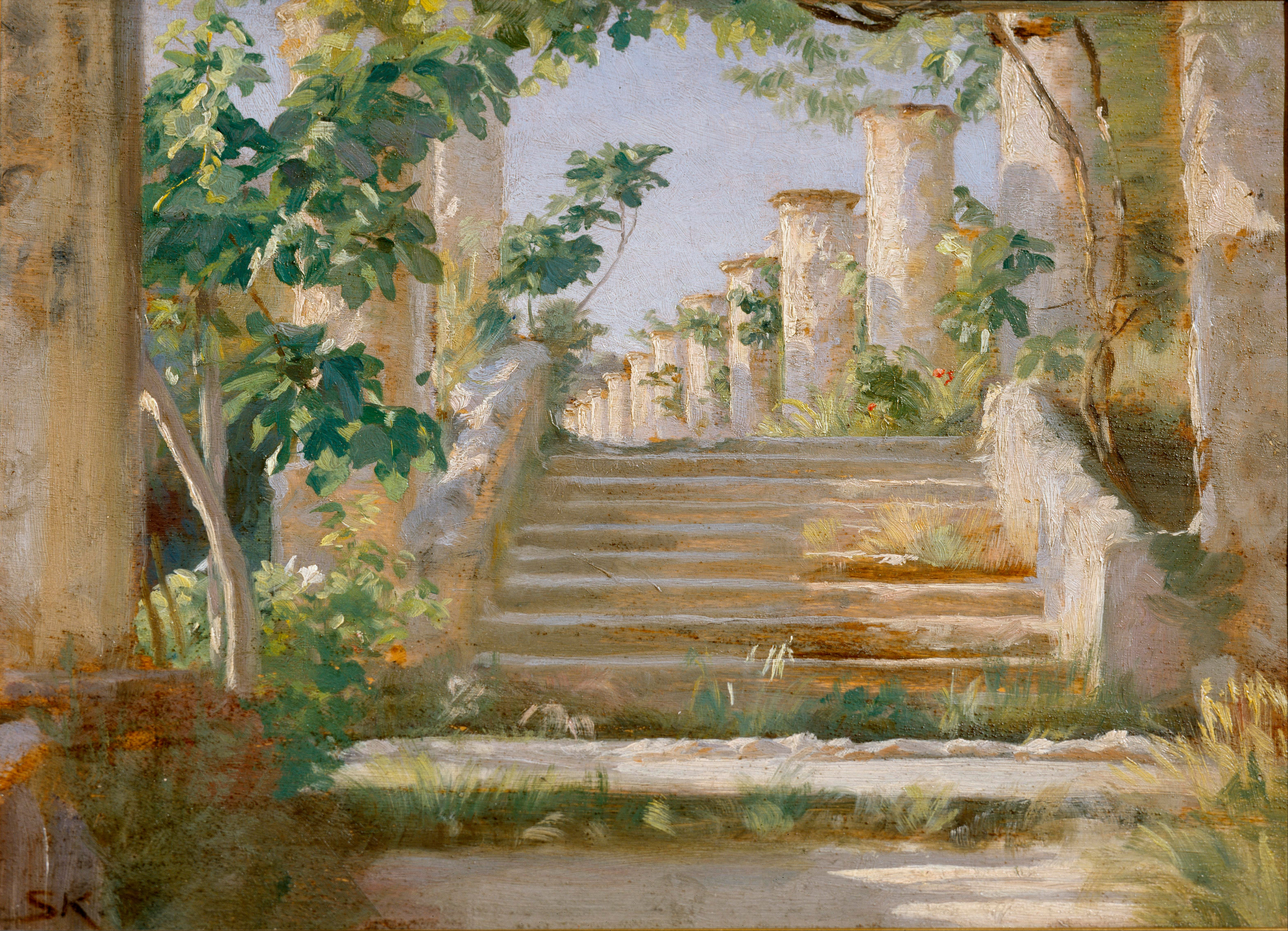 loggia in ravello image-classic chassis show original title Details about  /Peder severin kroyer