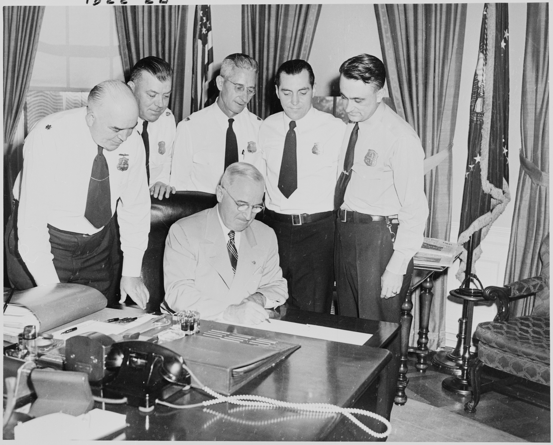 President Truman in Oval Office