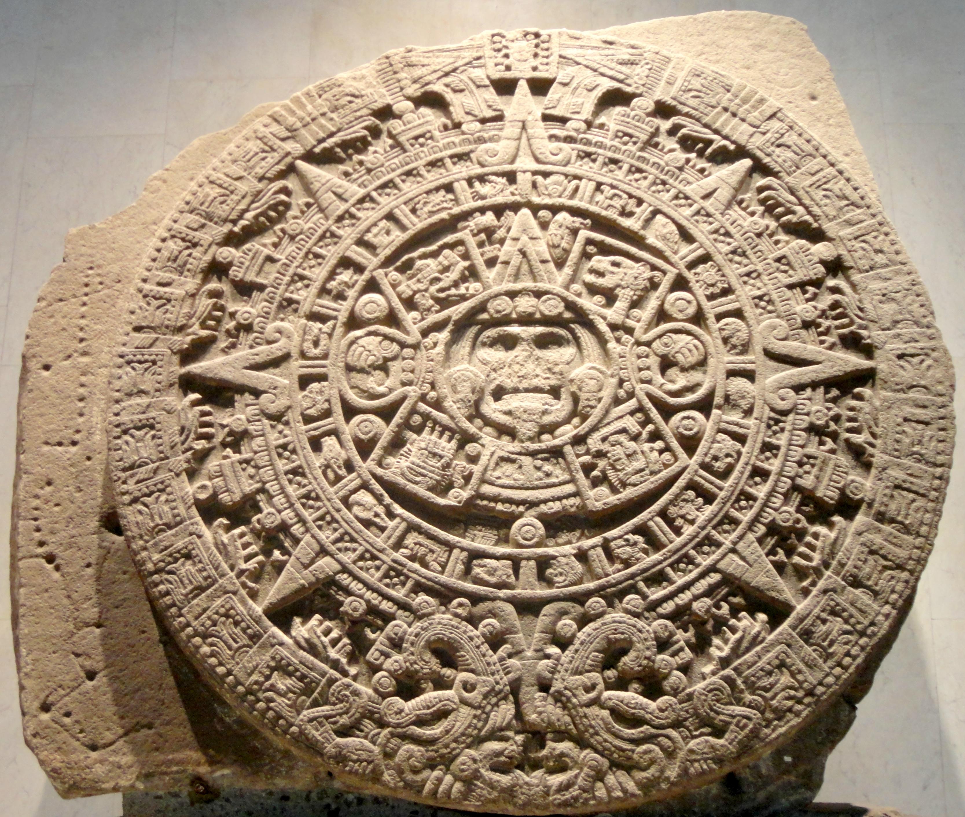 Civ Calendario.Aztec Sun Stone Wikipedia