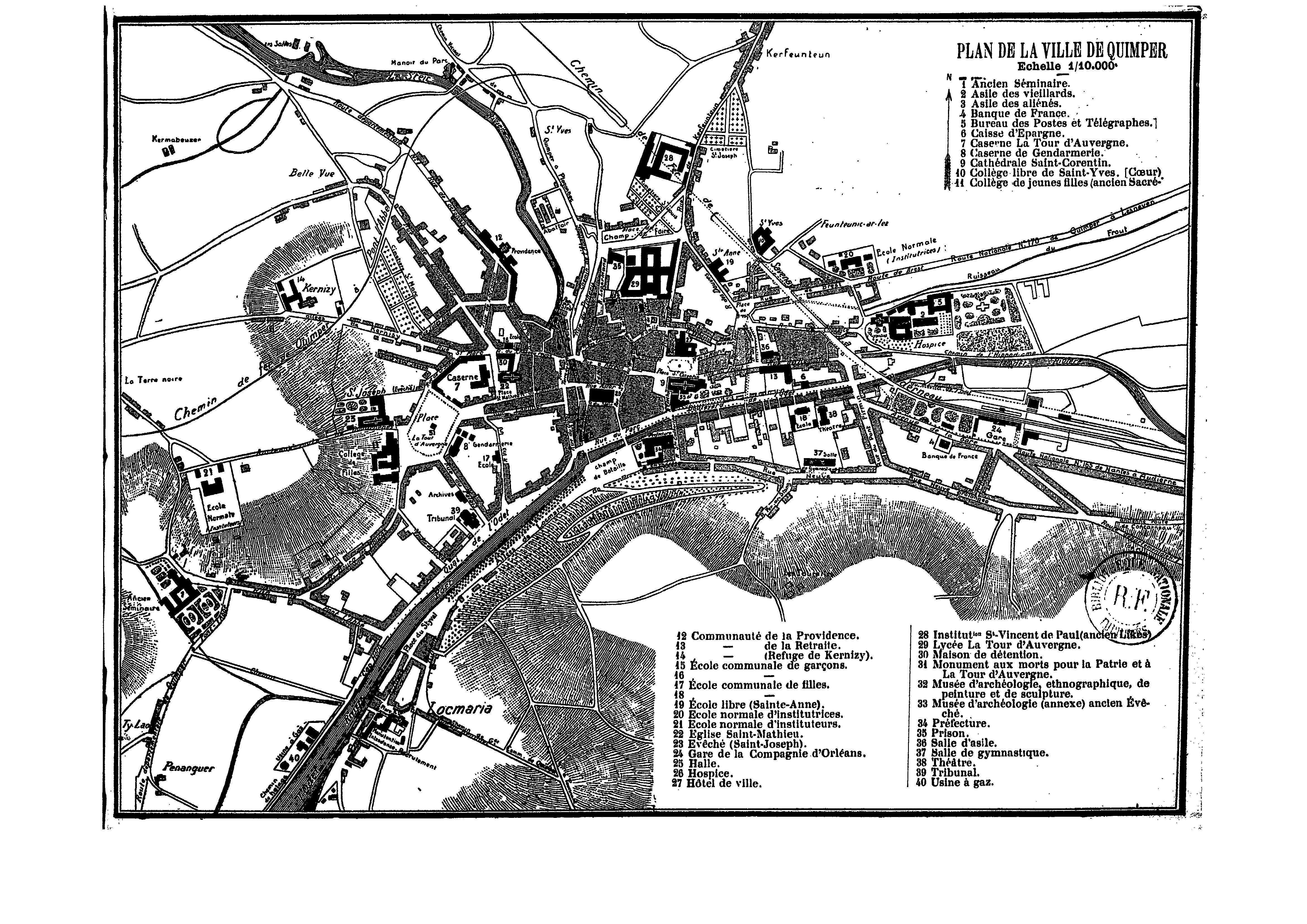 Fichierplan de la ville de quimper 1910 jpg