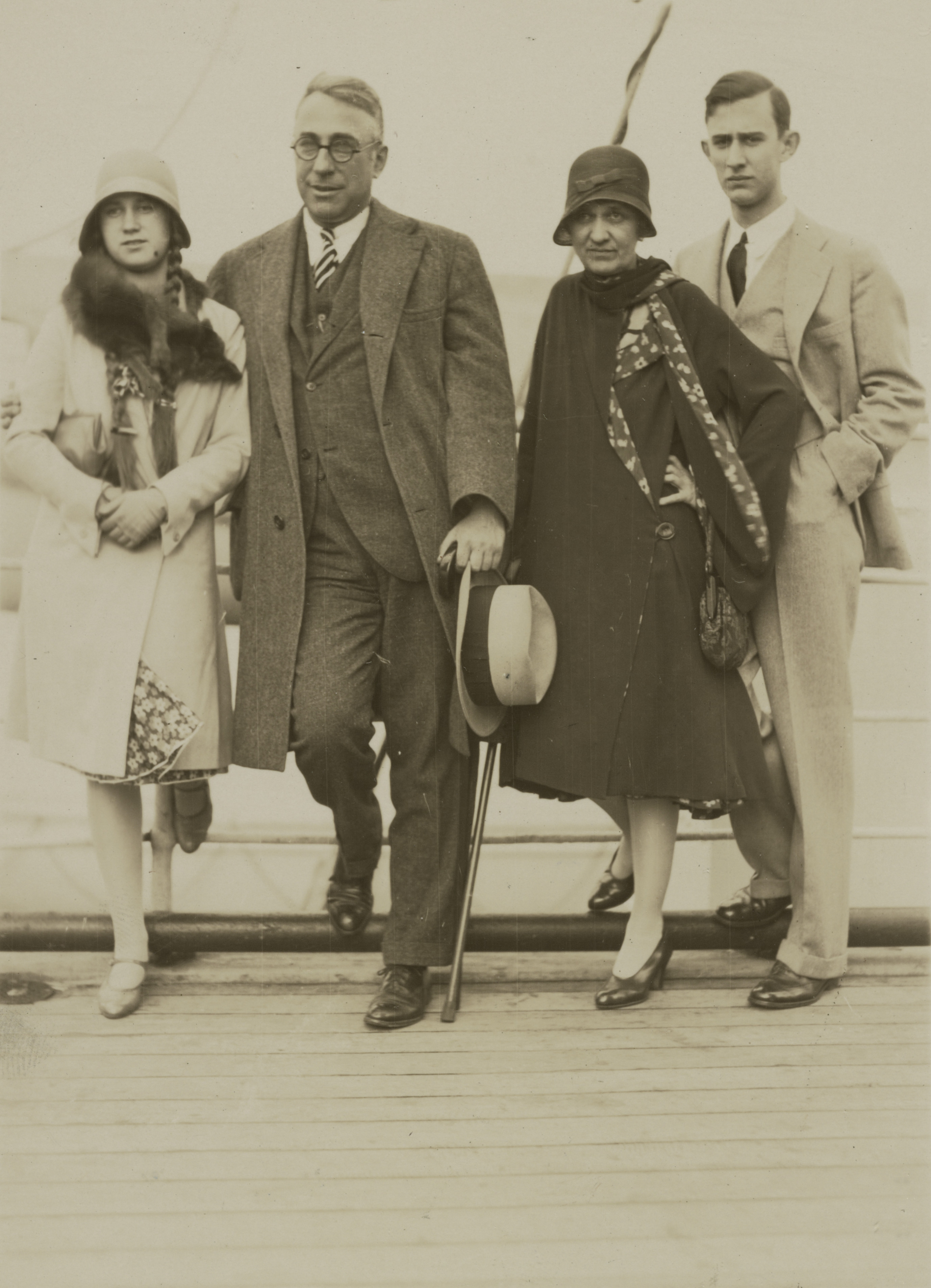 John Erskine (center left) with his family.