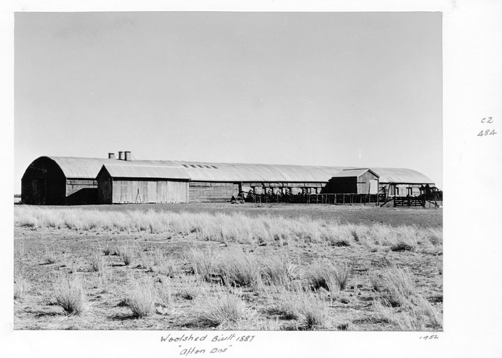 File:Queensland State Archives 5029 Woolshed built in 1887 Afton Downs 1952.png