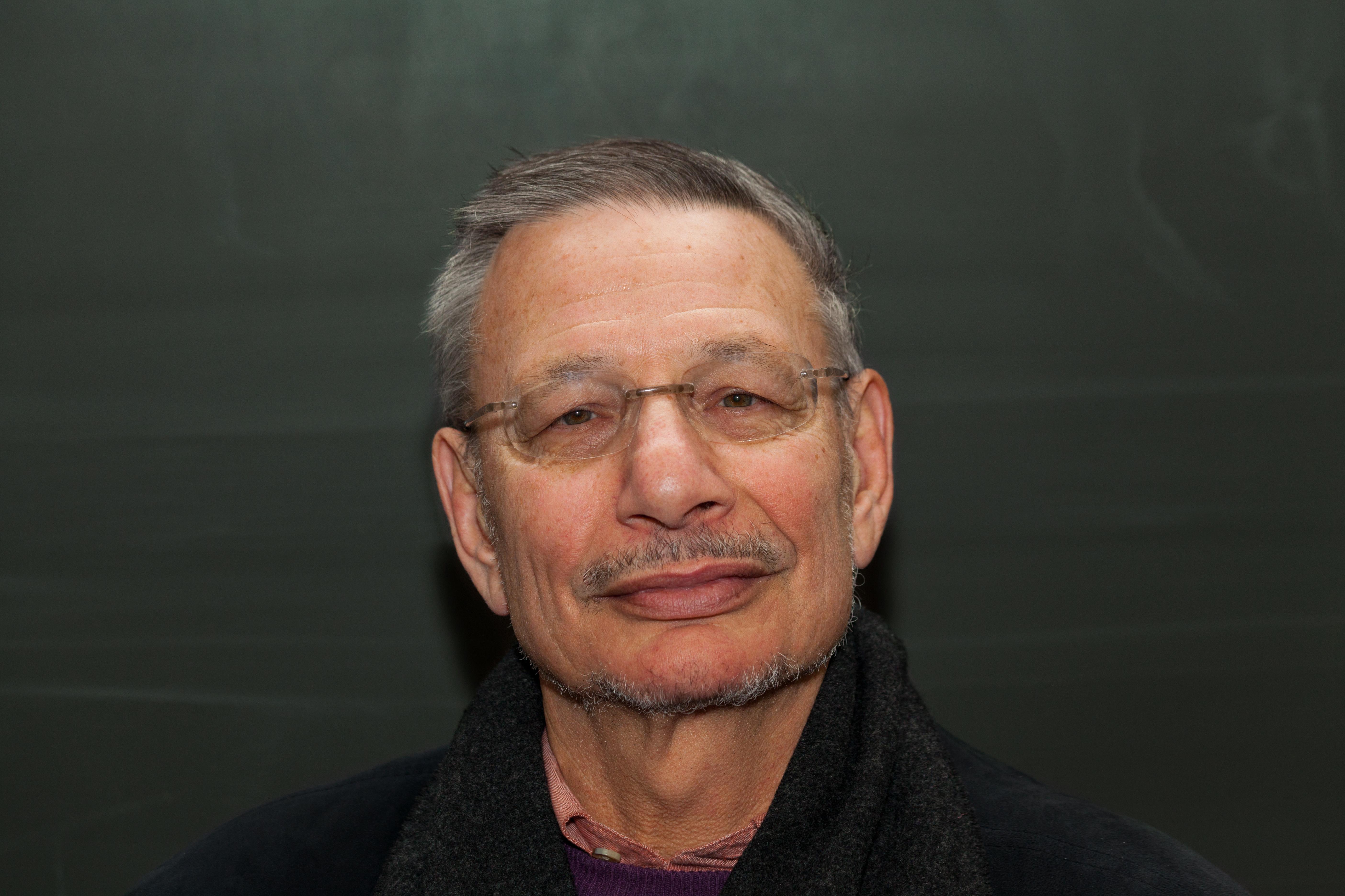 Richard Ned Lebow in January 2012 at the [[University of Hamburg]].