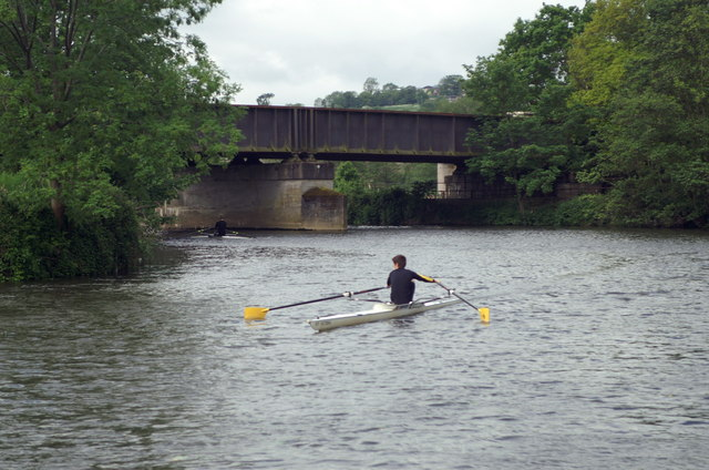 River Avon, Kelston Park Railway Bridge - geograph.org.uk - 180805
