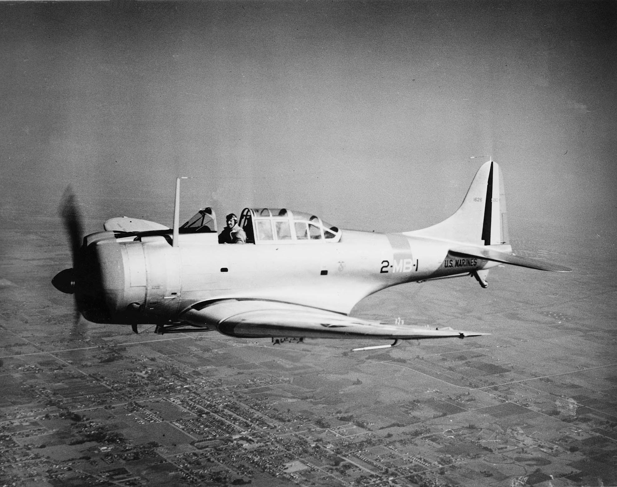 """[Hasegawa] SBD-1 Dauntless """"Yellow Wing"""", 1/48e SBD-1_VMB-2_1940"""