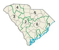 South Carolina districts in these elections