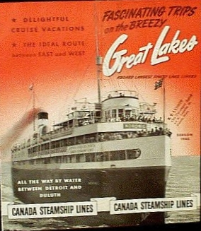 Brochure for the SS Noronic's 1942 season